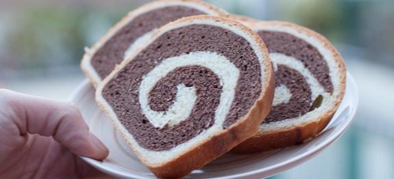 pan brioche bicolore al cacao