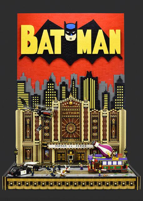MOC - Batman vs Joker Gotham Theater Showdown