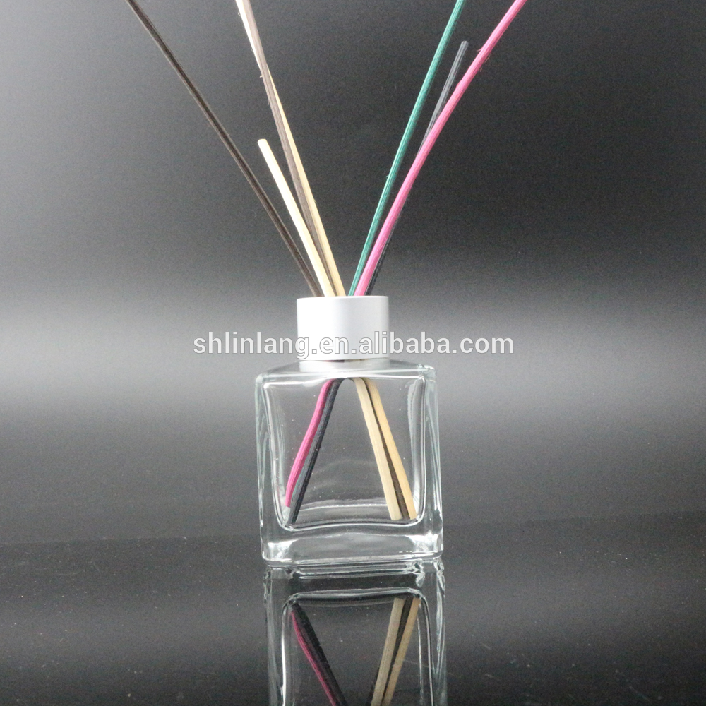 Glass Factory Manufacturer China Shanghai Linlang Square And Empty Aroma Reed Diffuser