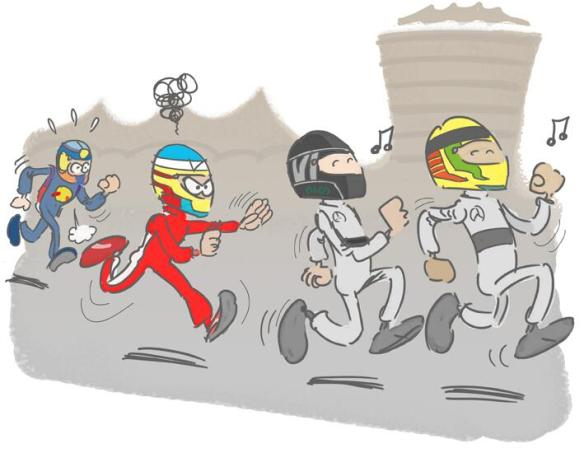 free practice in bahrain friday in a comics