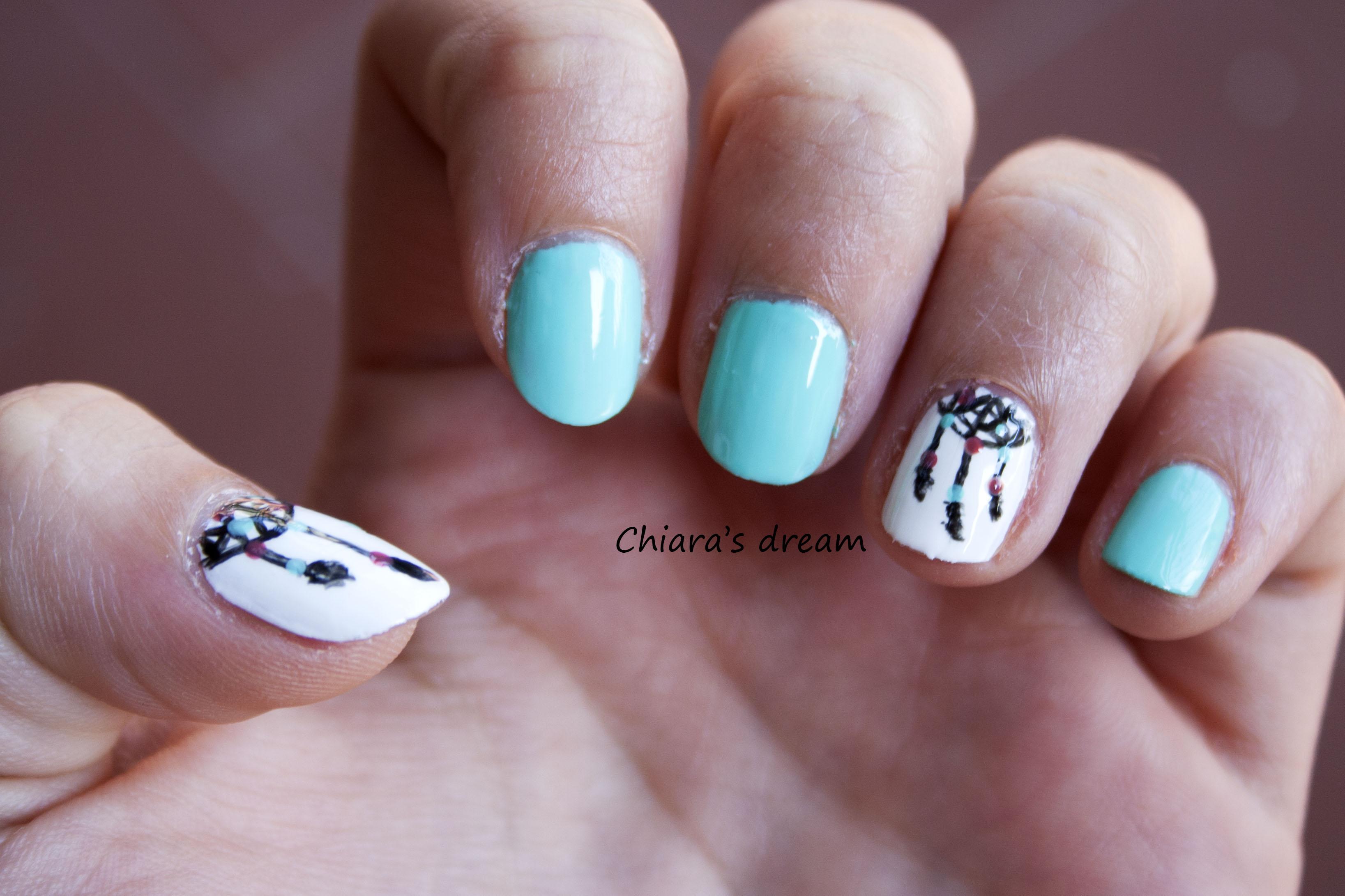 Nail Art Con Acchiappasogni Chiara39s Dream