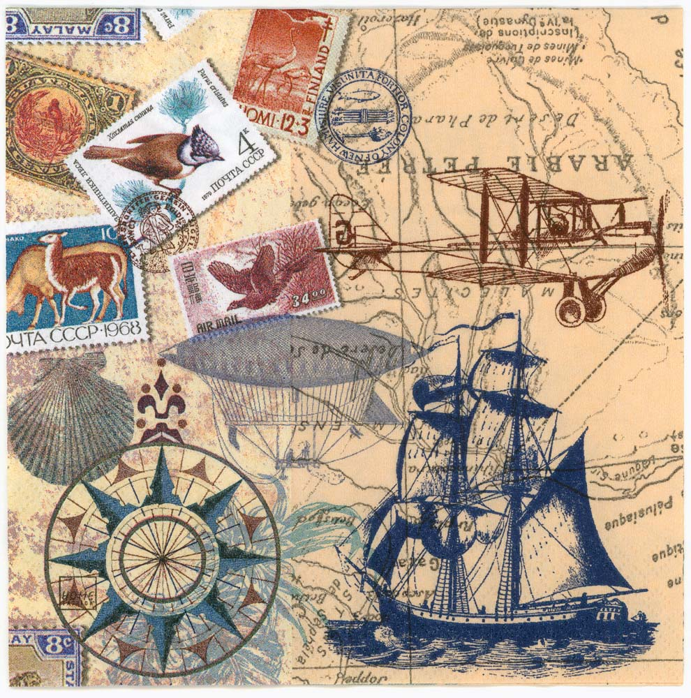 3d Wallpaper For Desktop Icon Decoupage Paper Napkins Of Vintage Travel World Map Tall