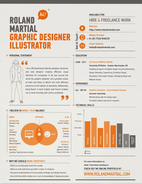 10 Excellent Examples of Creative Resumes \u2013   The Chic Type Blog