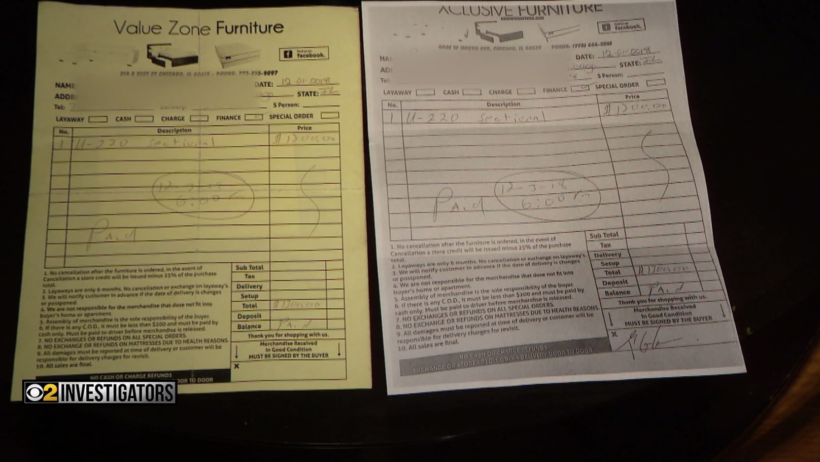 Woman Accuses Furniture Store Of Forging Her Signature On Receipt There S No Telling Who Else He Did It To Cbs Chicago