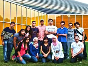 The first 14 Syrian students to arrive at IIT.