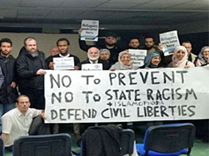 Anti-PREVENT Campaigners in Birmingham