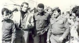 Muhammed Ali in a Palestinian refugee camp in southern Lebanon, 1974.