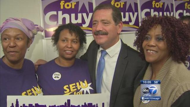 "Meanwhile SEIU Healthcare endorses Jesus ""Chuy"" Garcia for Mayor"
