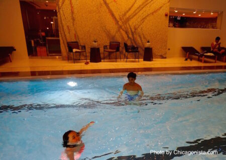 Loews Chicago Hotel pool made just for the little ones to enjoy!