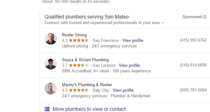 San Mateo Plumber results