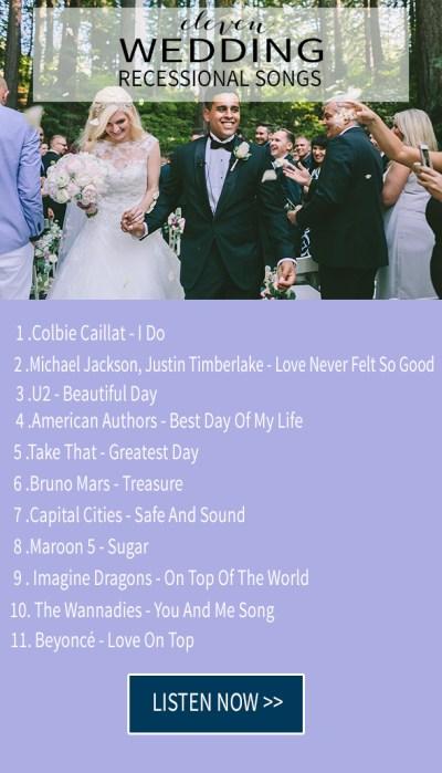 15 wedding recessional songs - Chic & Stylish Weddings
