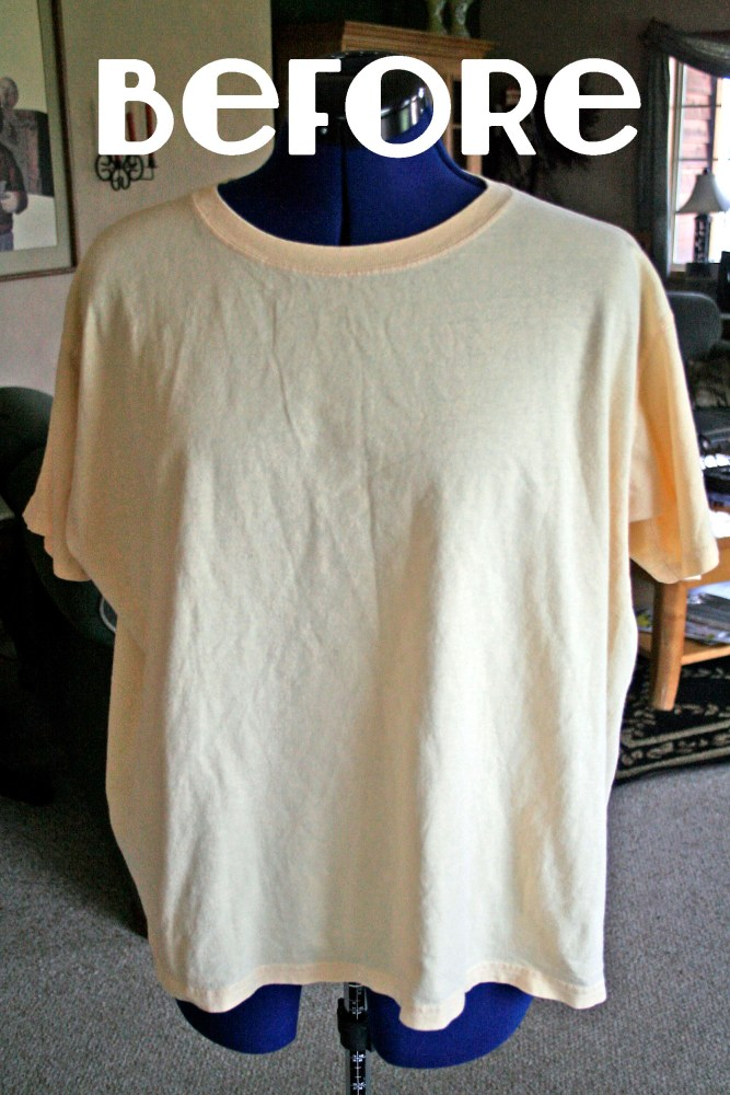 A DIY Spring T Shirt Refashion  (2/6)