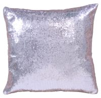 Standard Pillow  Silver Sequin  CHIC Event, Wedding and