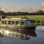 Canal boat Egremont in eveing sun 2