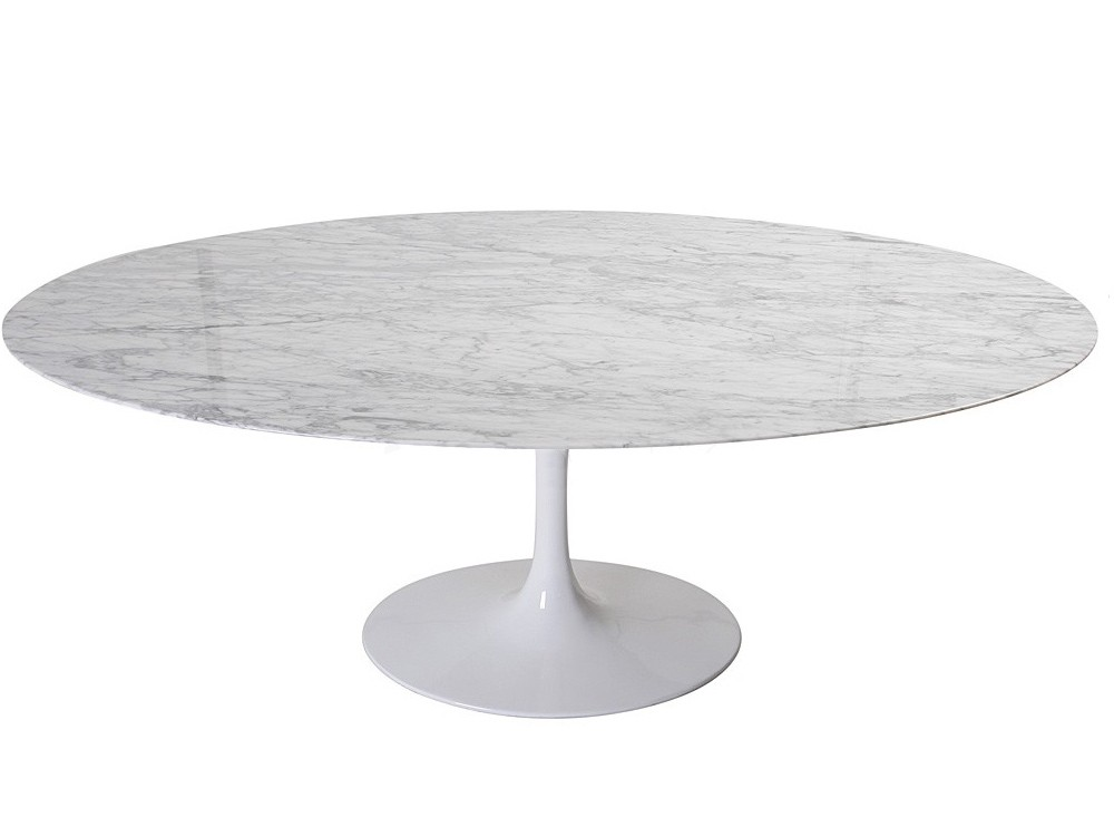 Table Tulipe Noire Replica Oval Tulip Dining Table By Eero Saarinen
