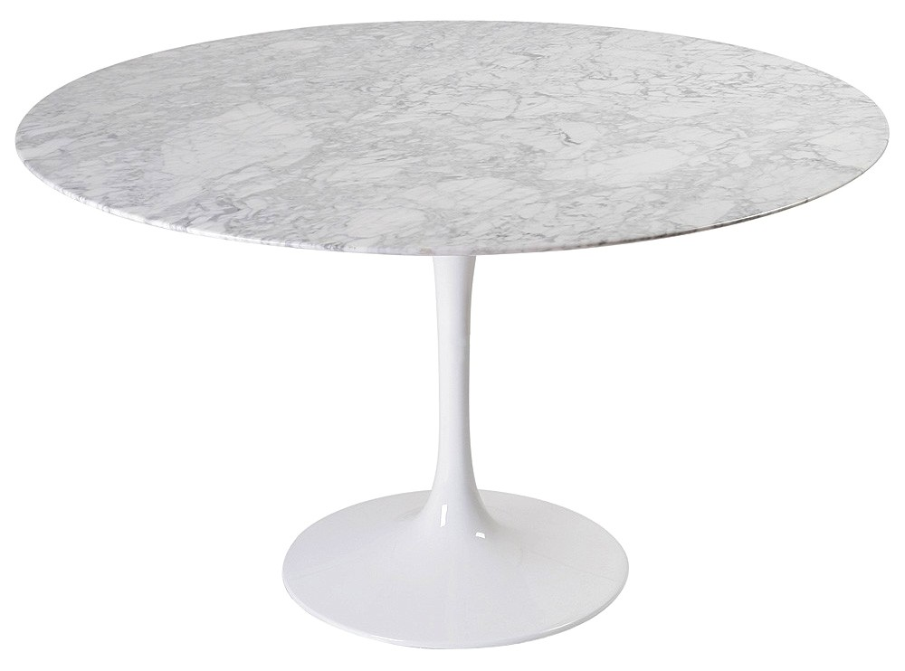 Tulip Tisch Tulip Table 120cm Round By Eero Saarinen (platinum Replica