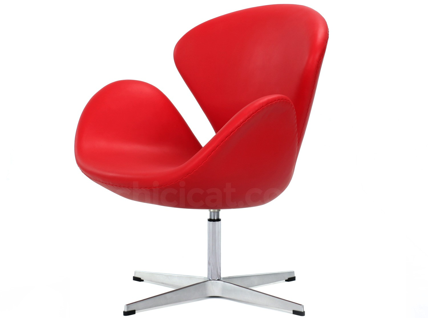 Swan Sessel Arne Jacobsen Swan Chair Leather Platinum Replica