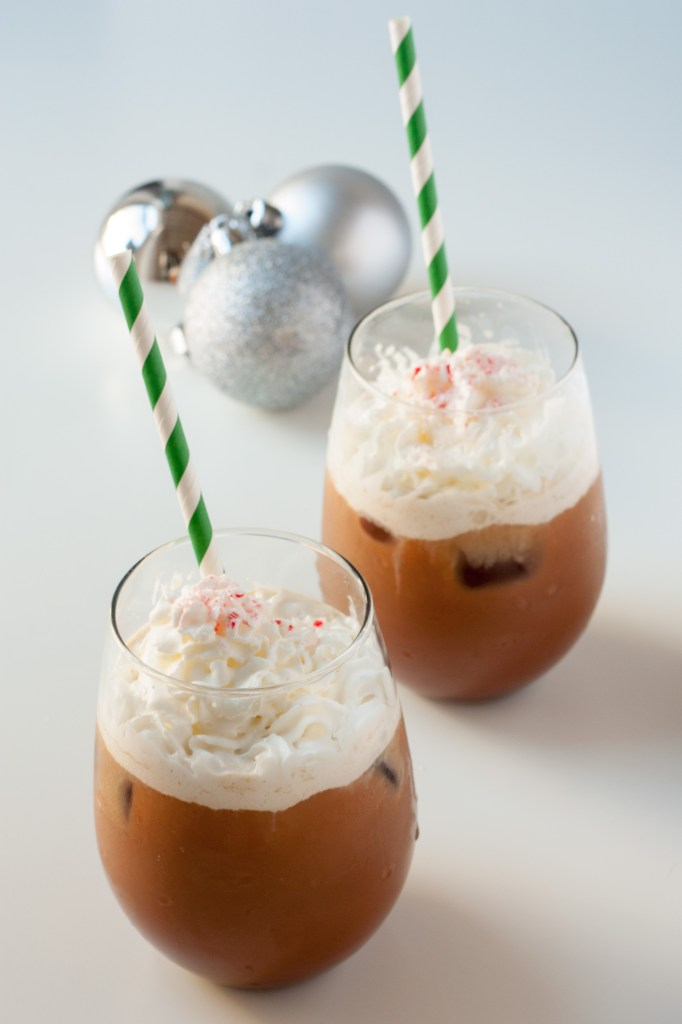 Homemade Peppermint Mocha Creamer - This coffee creamer is better than the store-bought stuff and is so easy to make with only four ingredients! It will take any cup of coffee and make it taste like Christmas in your mouth.