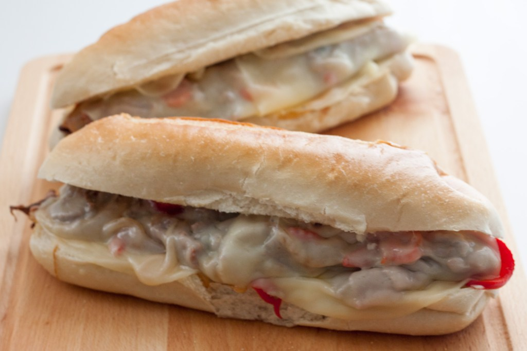Quick and Easy Philly Style Steak Subs - Full of Meaty and Cheesy goodness this is a perfect meal for a busy weeknight because it comes together super fast and can be made in advance