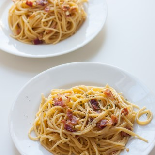 Spaghetti alla Carbonara for Two