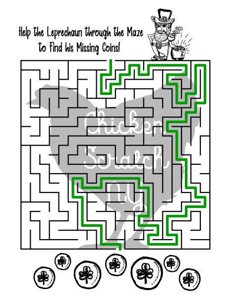 St Patrick\u0027s Day Printable Mazes
