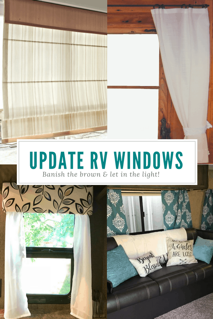 Trailer Curtains Rv Remodel Updating Your Rv Window Treatments