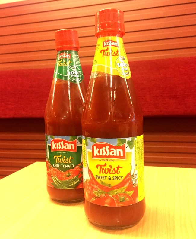 New Kissan Twist range - Chilli Tomato, and Sweet&Spicy