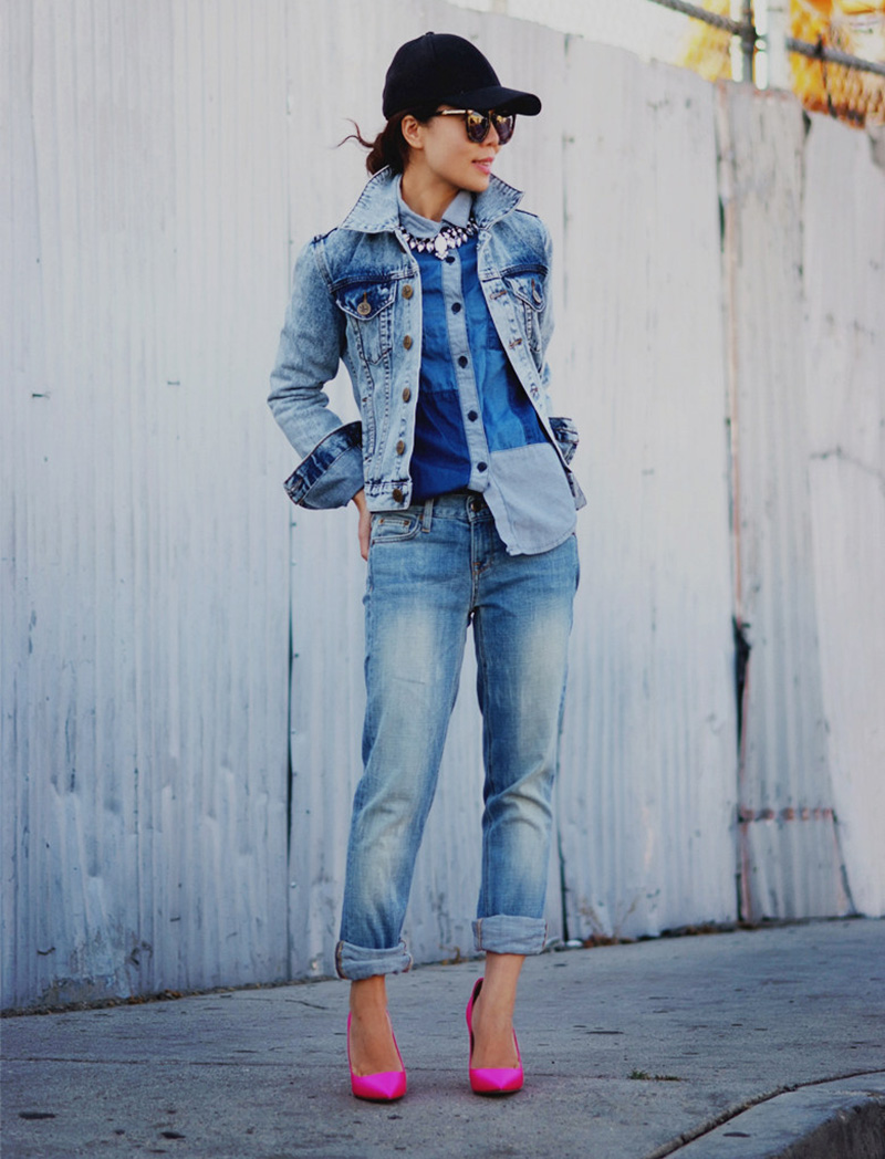 80iger Jahre Look Holly Molly Look At This Denim Layering Chic Obsession