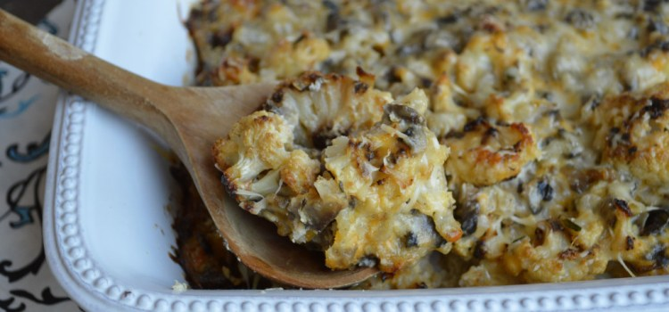 Roasted-Cauliflower-Mushroom-Casserole