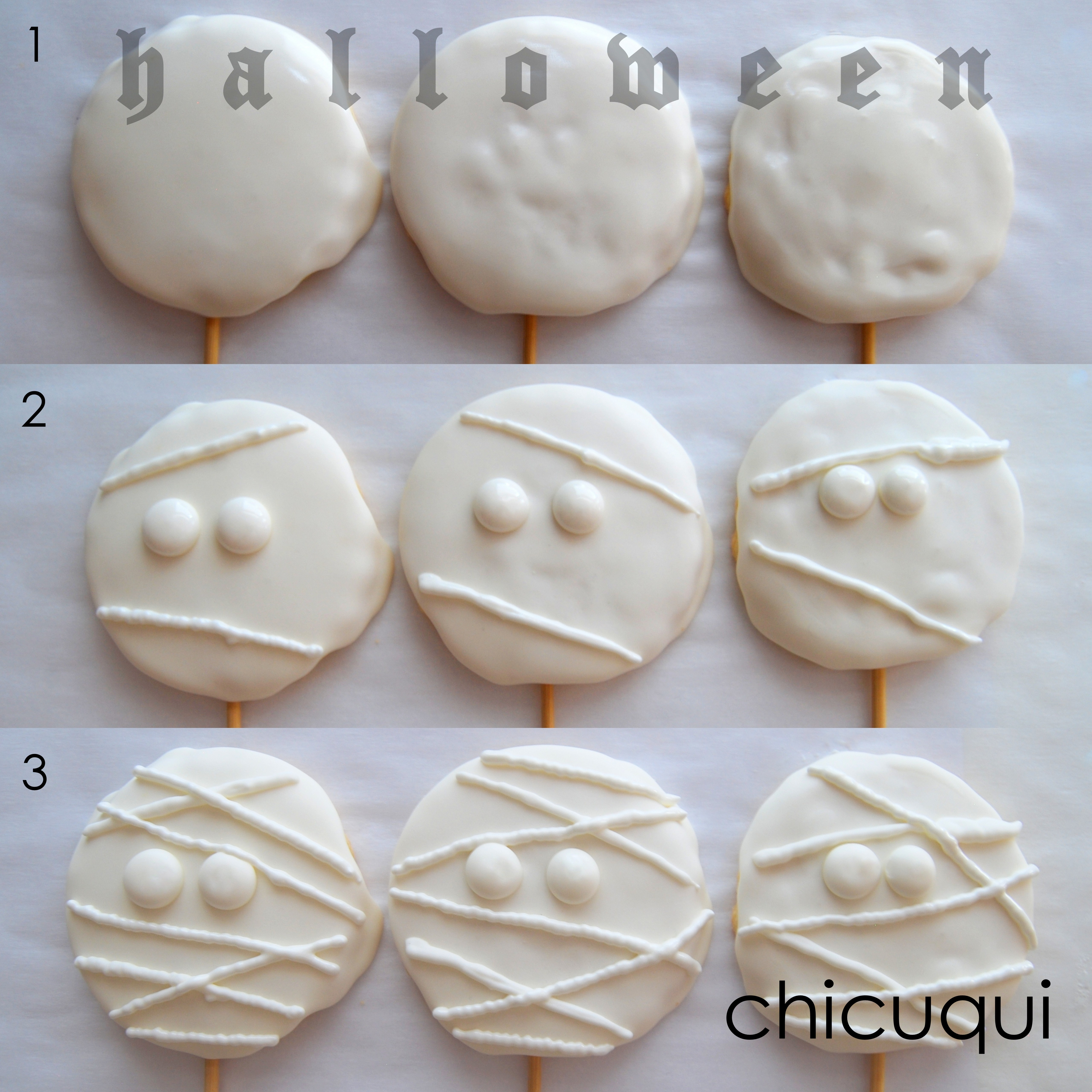 Galletas Decoradas Hallowen Galletas Sin Gluten Decoradas Momias Tenebrosas Es