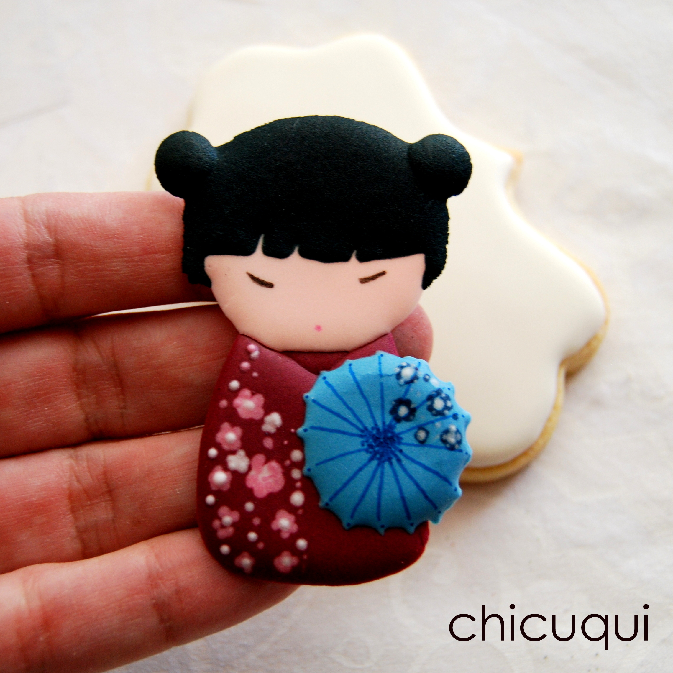 Galletas Decoradas Con Glasa Paso A Paso Muñecas Chinas, En Galletas Decoradas | Chicuqui