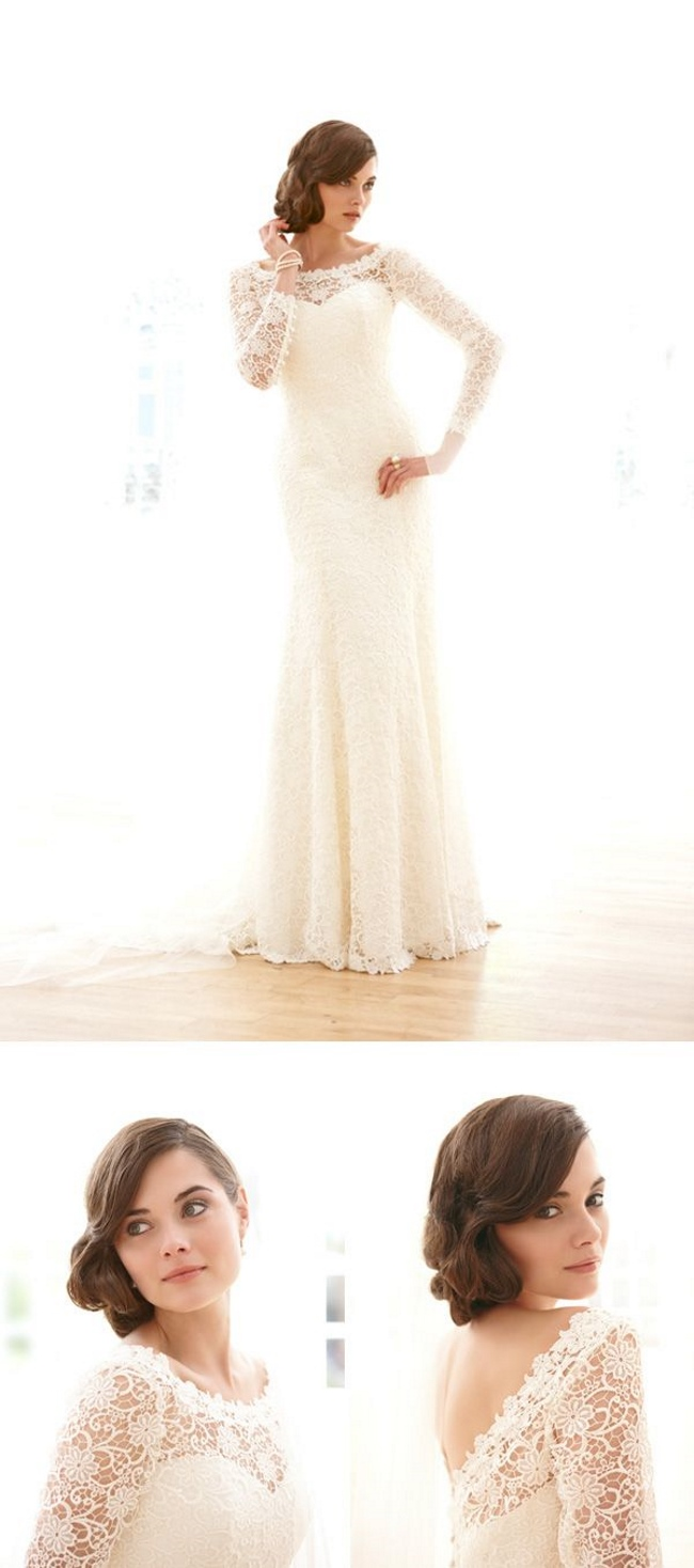 top long sleeved wedding dresses sleeved wedding dresses Elizabeth Filmore Long Sleeve Wedding Dress