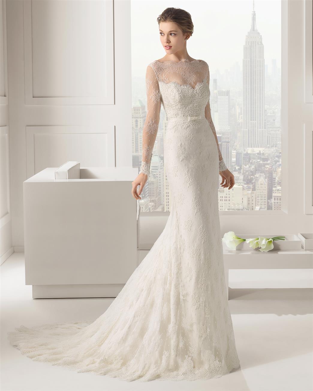 long sleeve wedding dresses wedding dress long sleeve Long Sleeve Wedding Dress from Rosa Clara Collection Santafe