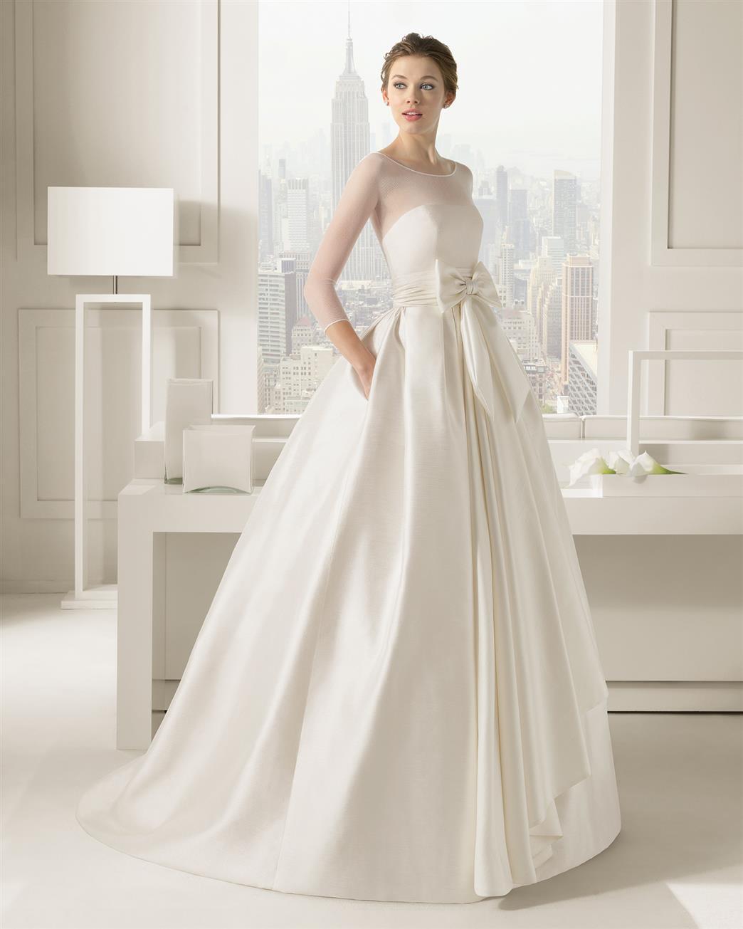 long sleeve wedding dresses wedding gowns Long Sleeve Wedding Dress from Rosa Clara Collection Segovia