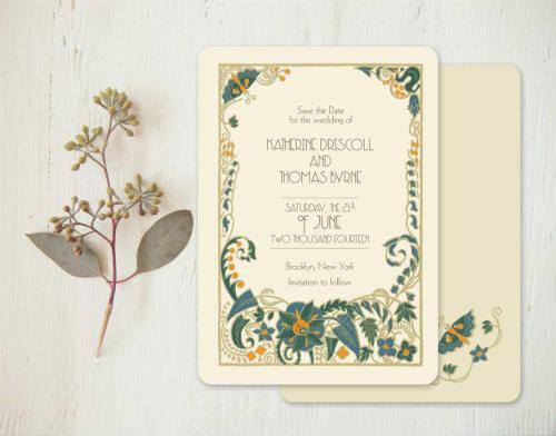 Medium Of Art Deco Wedding Invitations