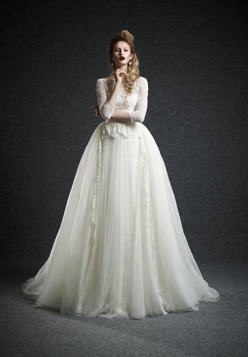 long sleeve wedding dresses wedding gowns Ersa Atelier Long Sleeve Wedding Dress Leda