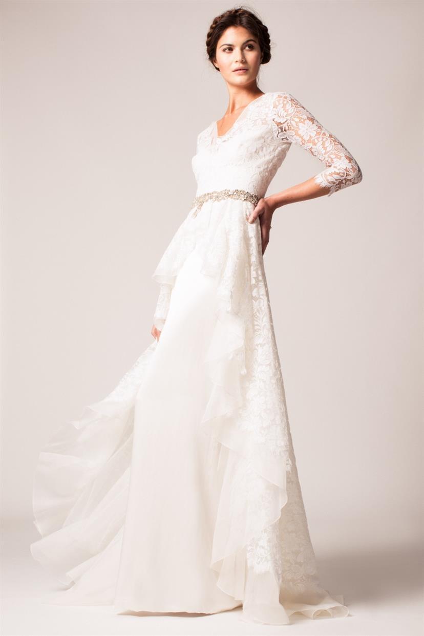long sleeve wedding dresses wedding dress long sleeve Temperley London Long Sleeve Wedding Dress Posey