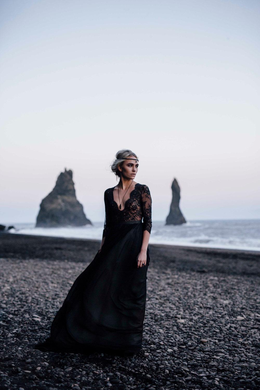 30 stunning black wedding dresses black wedding dresses Boho Black Wedding Dress