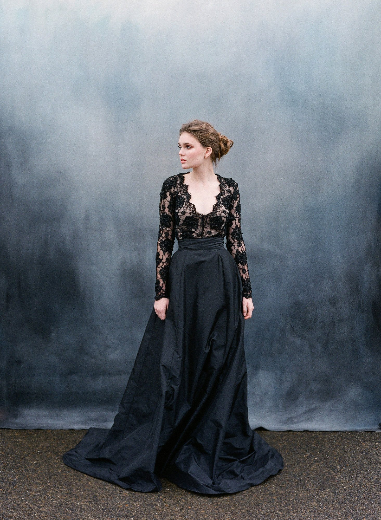 30 stunning black wedding dresses black wedding dresses Emily Riggs Black Wedding Dress