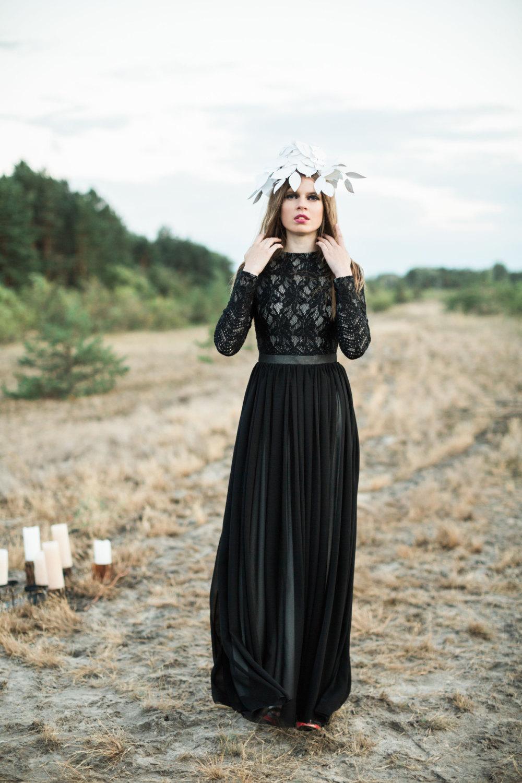 30 stunning black wedding dresses black wedding dresses Long Sleeve Black Wedding Dress