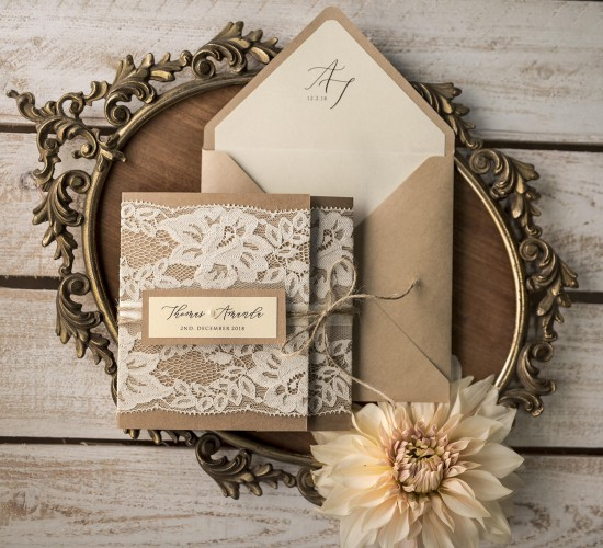 20 Chic Rustic Wedding Invitations from 4lovepolkadots that Wow - rustic wedding invitation