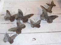 Grey Metal Butterfly Wall Art - Chicy Rachael