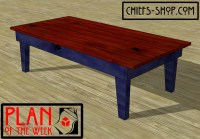 Plan of the Week: Cabin Coffee Table | Chief's Shop