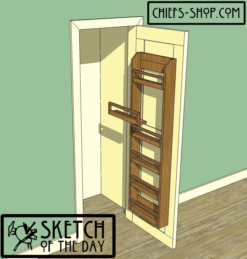 Pantry Door Rack Chief39s Shop