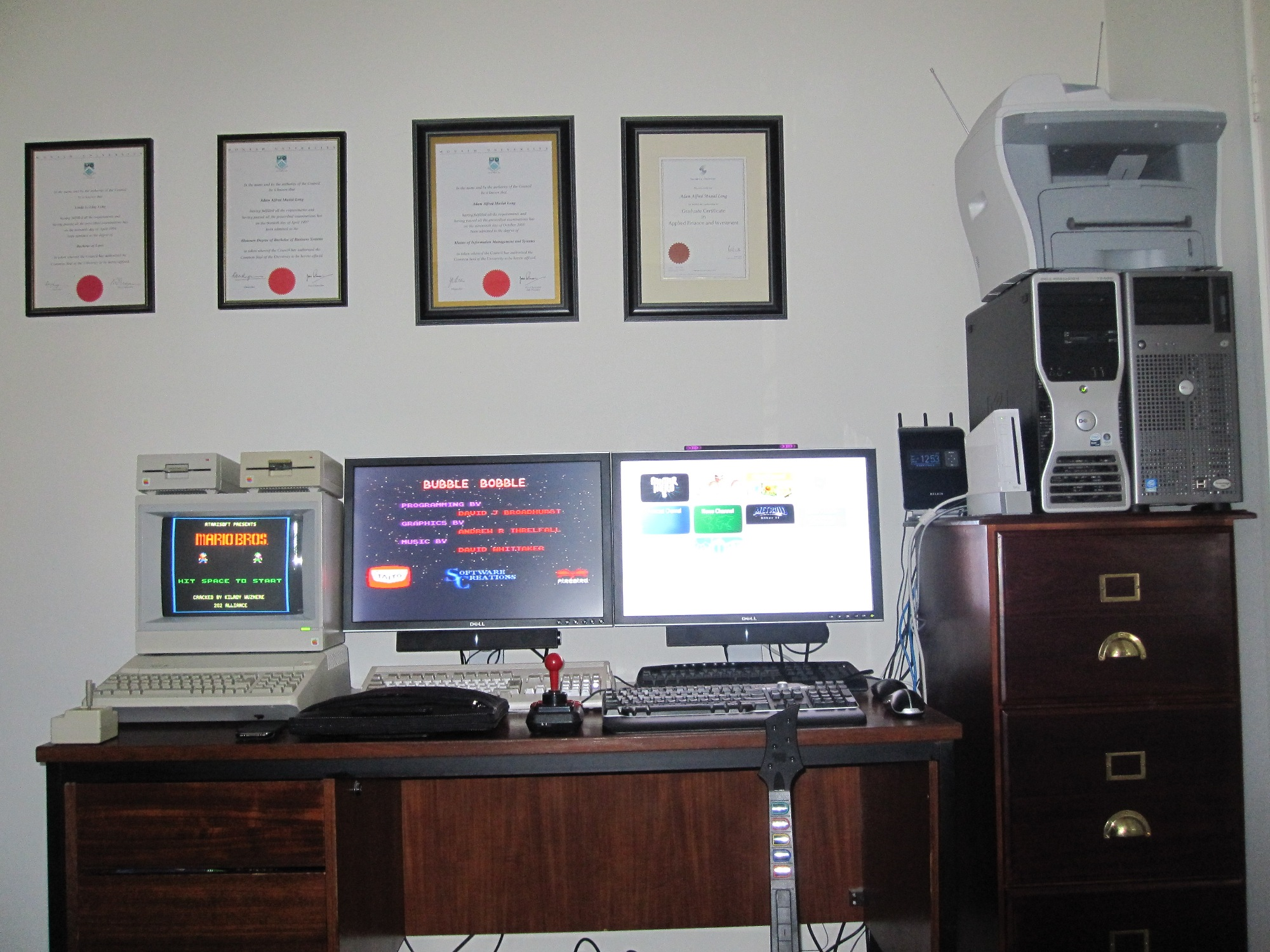 Home Office Desk Setup My Home Office Desk Setup Chief Technology Officer 39s Blog