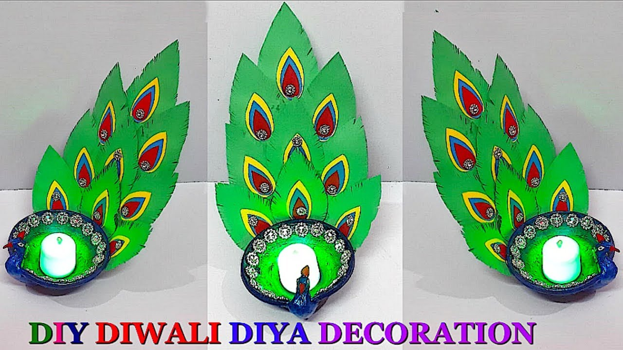 Diy Easy Diya Peacock Diya Decoration Ideas At Home Diwali Diya Decoration Idea Best Home Design Video