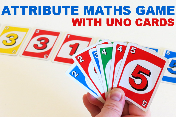 Math Games Attribute Trains with Uno Cards