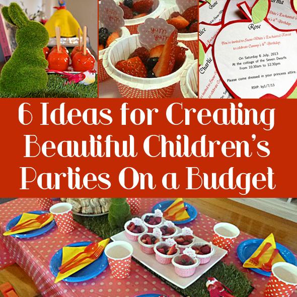 Budget Children\u0027s Birthday Party Ideas