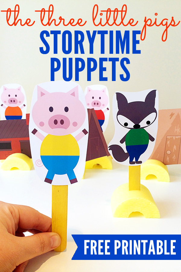 The Three Little Pigs Printable Storytelling Puppets