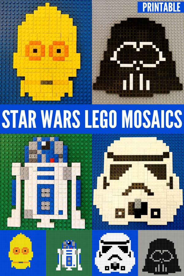 Star Wars Fun for KidsStar Wars Lego Mosaics